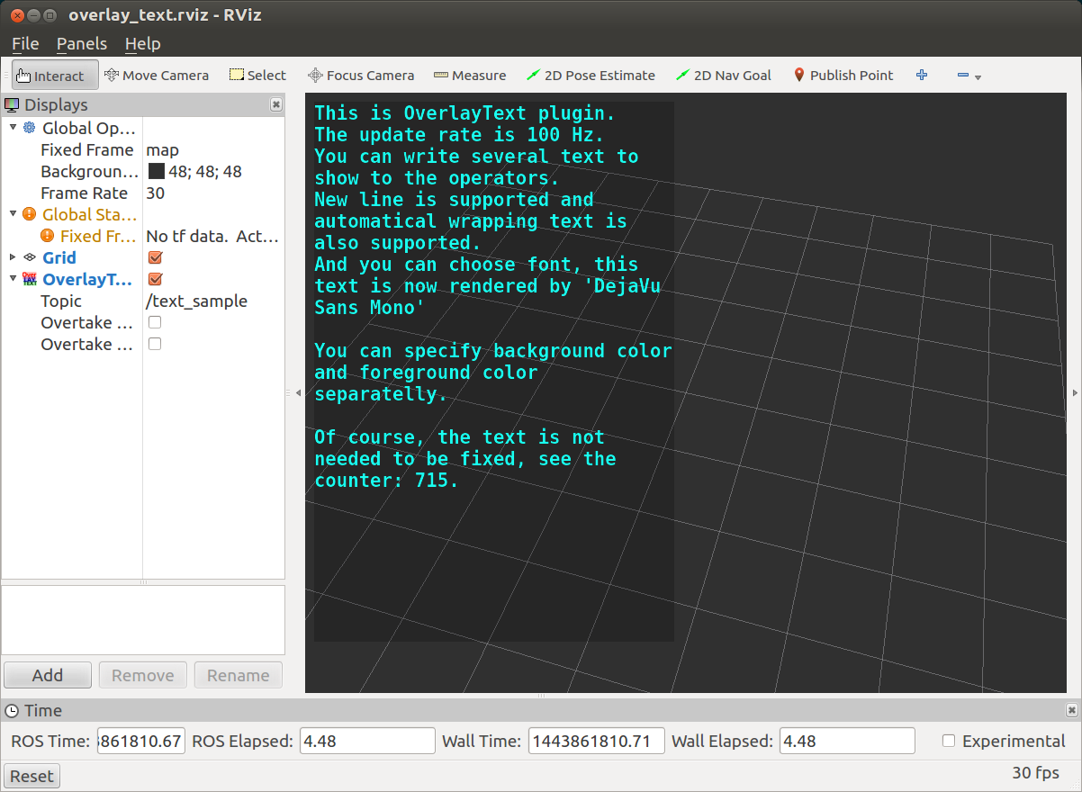 OverlayText — jsk_visualization 1.0 documentation